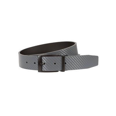 NIKE Men's Carbon Fiber Texture Reversible Belt Belt WillLeatherGoods 32 Dark Grey/Black