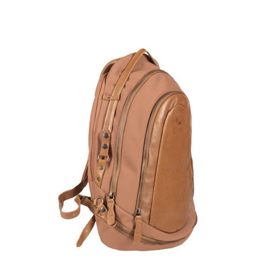 STOCKHOLM - All Weather Canvas and Leather Zip Backpack - PRESALE Backpack Monreaux