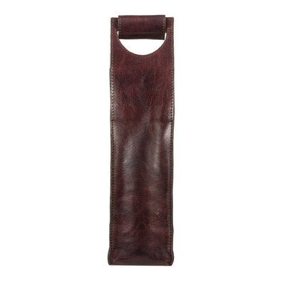 Single Leather Wine Case Beverage WillLeatherGoods