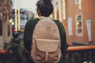 All Weather Canvas and Leather Front Flap Pocket -- FINAL SALE Backpack WillLeatherGoods