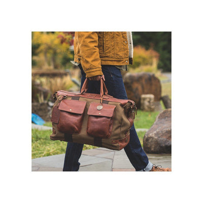 Canvas & Leather Traveler Duffle Duffle WillLeatherGoods