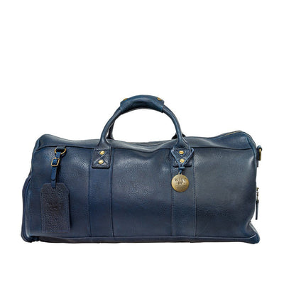 Leather Atticus Duffle Duffle WillLeatherGoods Navy