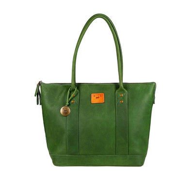 Twenty Four Seven Leather Tote Tote WillLeatherGoods Kelly Green