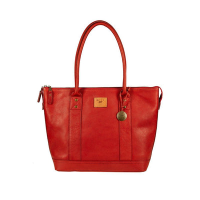 Twenty Four Seven Leather Tote Tote WillLeatherGoods Red
