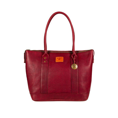Twenty Four Seven Leather Tote Tote WillLeatherGoods Deep Purple