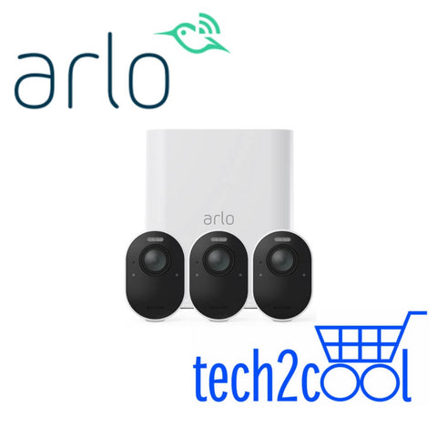 Arlo Ultra VMS5340 4K UHD Wire-Free Security System with 3 Cameras