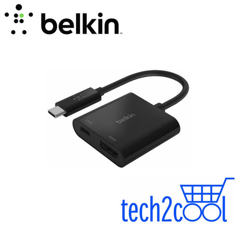 Belkin AVC002btBK USB-C to HDMI Plus 60 W Charge Adapter