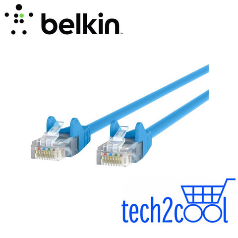 Belkin A3L980bt10MBLUS Cat6 Snagless 10 Meter Blue RJ45 Ethernet Patch Cable