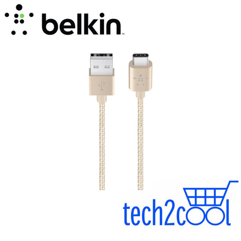 Belkin MIXIT Metallic F2CU060bt04-GLD 4 Feet Gold USB-C to USB-A Charge Cable