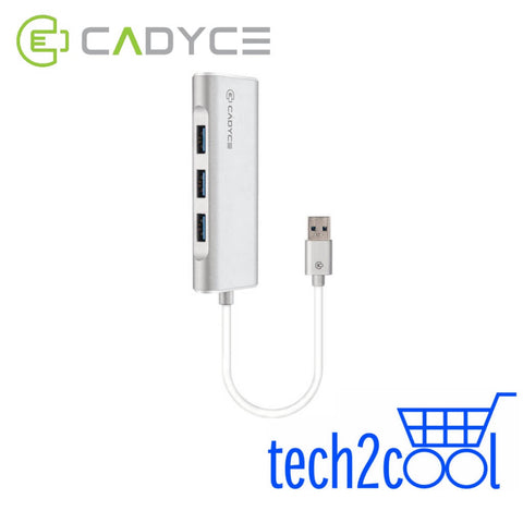 Cadyce CA-U3HE USB 3.0 3 Port Hub with Gigabit Ethernet Adapter