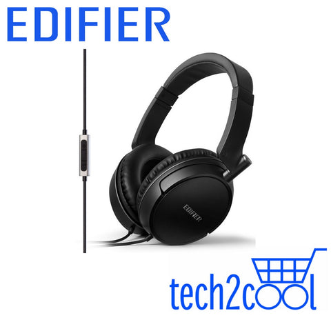 Edifier P841 Black Noise Isolating Headphones with Microphone and Volume Controls