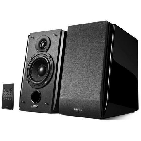 Edifier R1850DB Black Bookshelf Speakers with Bluetooth and Optical Input