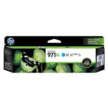 HP 971XL Cyan High Capacity 6600-Page Original Ink Cartridge