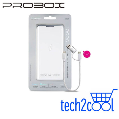 Hotway Probox Ultra Slim 10000mAh White Power Bank with Type-C Output