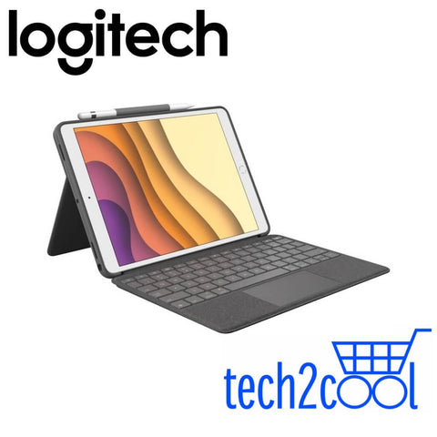 Logitech Combo Touch Backlit Keyboard Case with Trackpad and Smart Connector for iPad 7th Gen (2019) 10.2-In Only