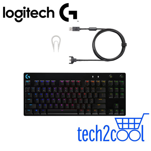 Logitech G Pro X Mechanical RGB Gaming Keyboard with Swappable Switches