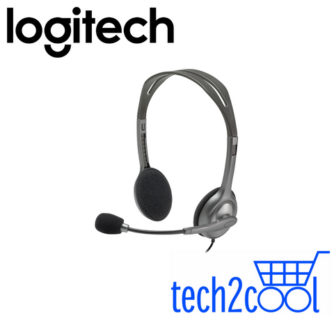 Logitech H110 Basic Stereo Headset with 3.5 mm Input and Output Jack
