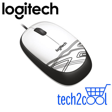 Logitech M105 White Wired Mouse