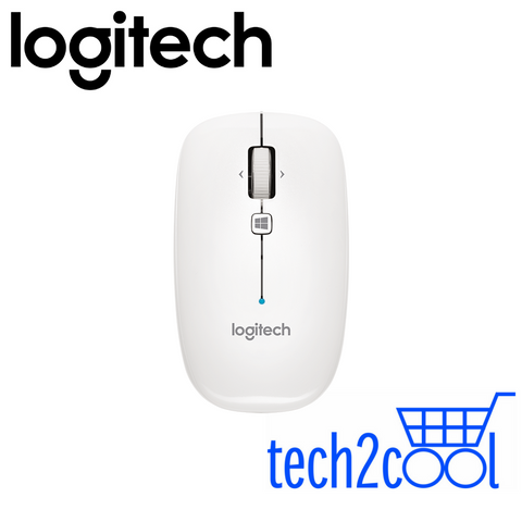 Logitech M557 Pearl White Bluetooth Mouse