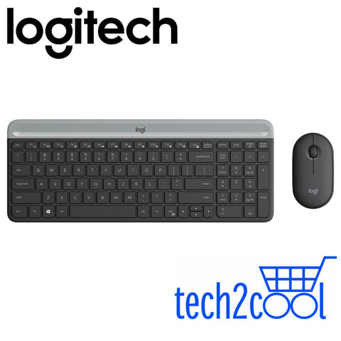 Logitech MK470 Graphite Slim, Compact and Quiet Wireless Keyboard and Mouse Combo