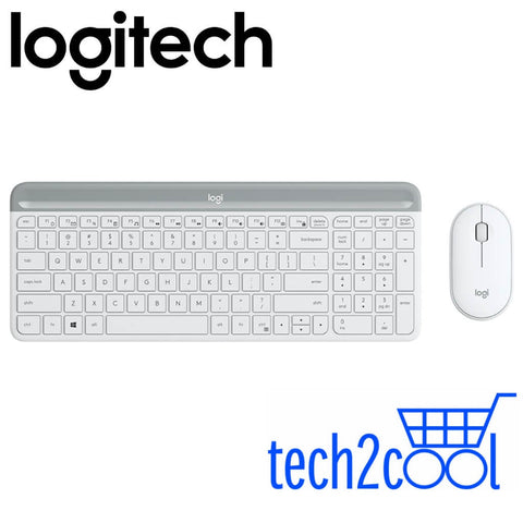 Logitech MK470 Off-White Slim, Compact and Quiet Wireless Keyboard and Mouse Combo