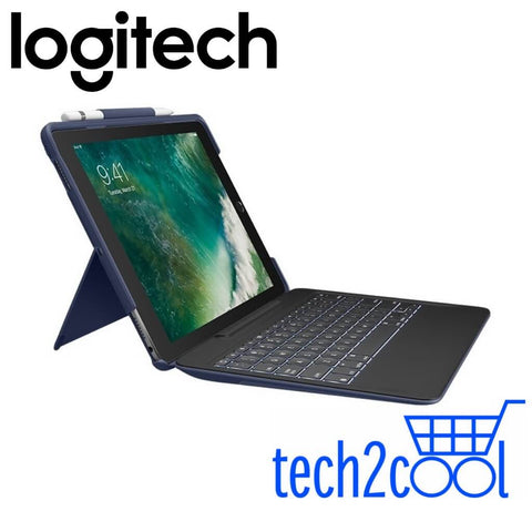Logitech Slim Combo Classical Blue Case with Detachable Keyboard and Smart Connector