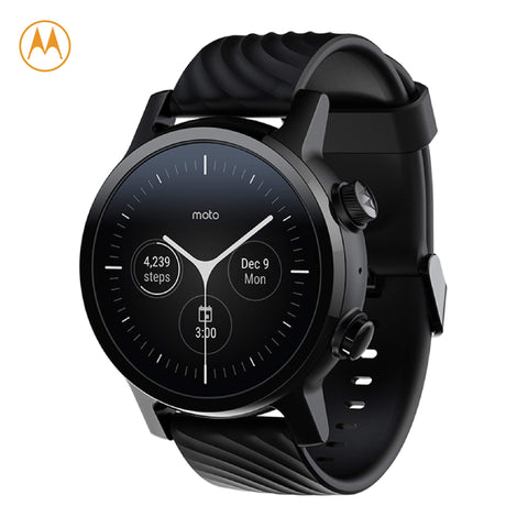 Moto 360 Phantom Black Stainless Steel Case 3rd Gen Smartwatch