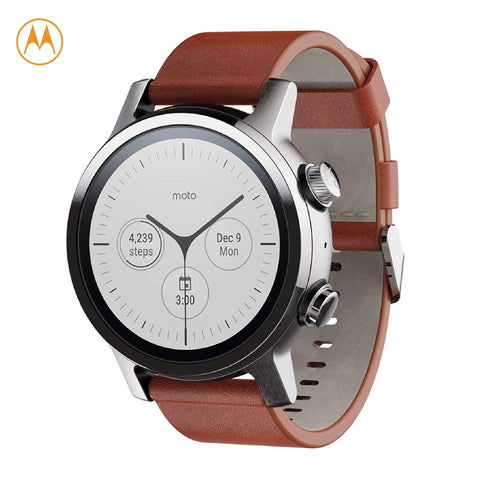 Moto 360 Steel Grey Stainless Steel Case 3rd Gen Smartwatch