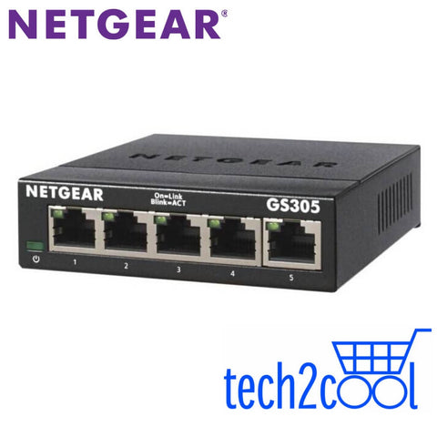 Netgear GS305v3 5-Port Gigabit Ethernet Unmanaged Switch