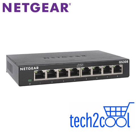 Netgear GS308 8-Port Gigabit Ethernet Unmanaged Switch