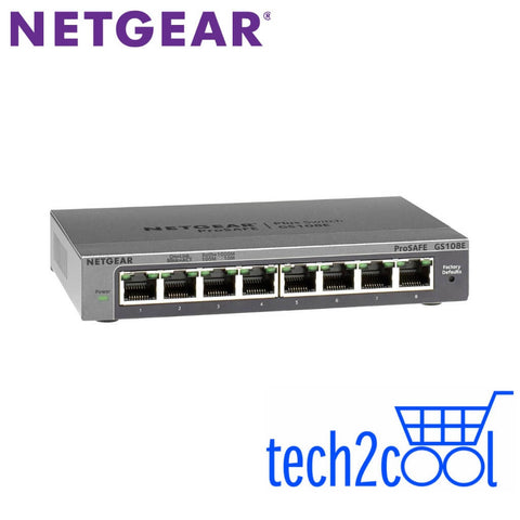 Netgear ProSafe GS108E 8-Port Gigabit Plus Desktop Switch