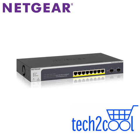 Netgear ProSafe GS510TPP 8-Port Gigabit Ethernet PoE Plus Smart Switch w/2 Fibre SFP Ports