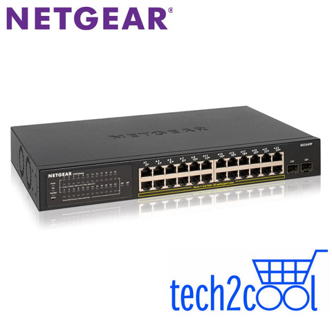 Netgear GS324TP 24-Port Gigabit PoE Plus Ethernet Smart Managed Pro Switch with 2 SFP Ports