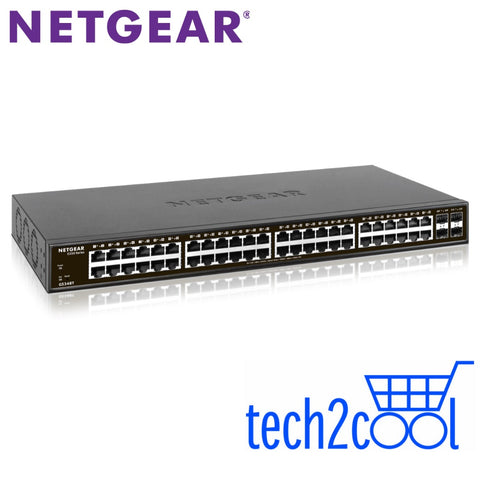 Netgear GS348T 48-Port Gigabit Ethernet Smart Managed Pro Switch with 4 SFP Ports