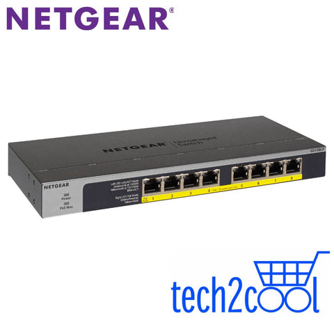 Netgear ProSafe GS108LP Full PoEPoE Plus Gigabit Rackmountable Unmanaged Switch