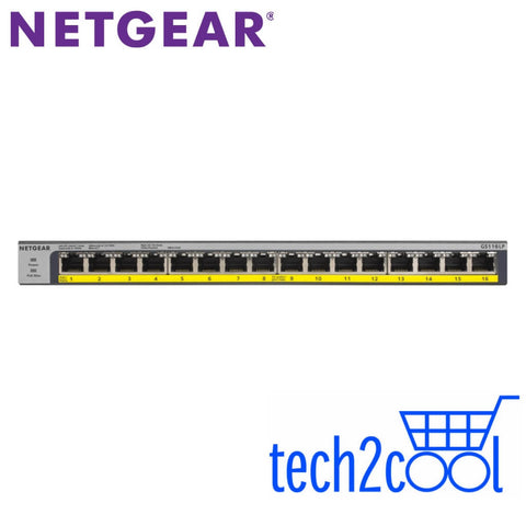 Netgear ProSafe GS116LP 16-Port Full PoEPoE Plus Gigabit Rackmountable Unmanaged Switch