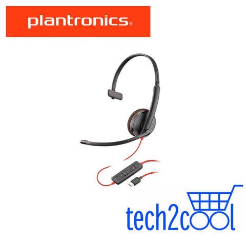 Plantronics Blackwire 3210 USB-C Monaural Wired UC Headset