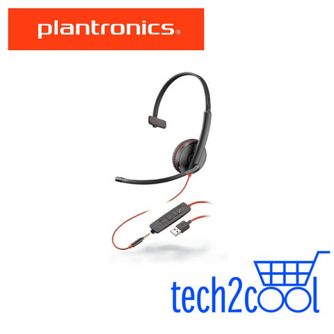 Plantronics Blackwire 3215 USB-A and 3.5 mm Monaural Wired UC Headset