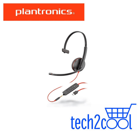Plantronics Blackwire 3215 UC USB-C and 3.5 mm Monaural Wired Headset