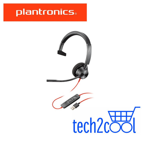 Plantronics Blackwire 3310 USB-A Monaural Wired UC Headset