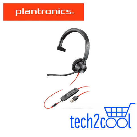 Plantronics Blackwire 3315 Microsoft Teams USB-A and 3.5 mm Monaural Wired Headset