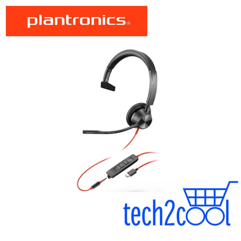 Plantronics Blackwire 3315 Microsoft Teams USB-C and 3.5 mm Monaural Wired Headset