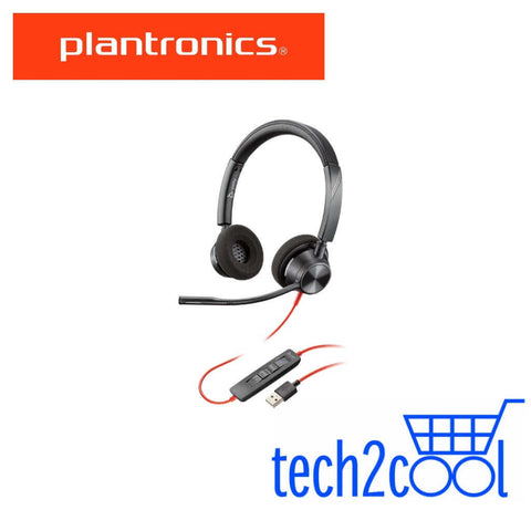Plantronics Blackwire 3320 Microsoft Teams USB-A Stereo Wired Headset