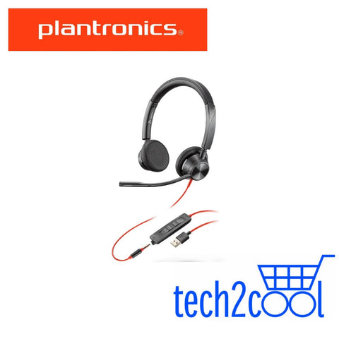 Plantronics Blackwire 3325 Microsoft Teams USB-A and 3.5 mm Stereo Wired Headset