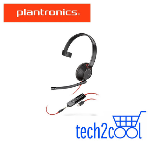 Plantronics Blackwire 5210 USB-C and 3.5 mm Monaural Wired UC Headset