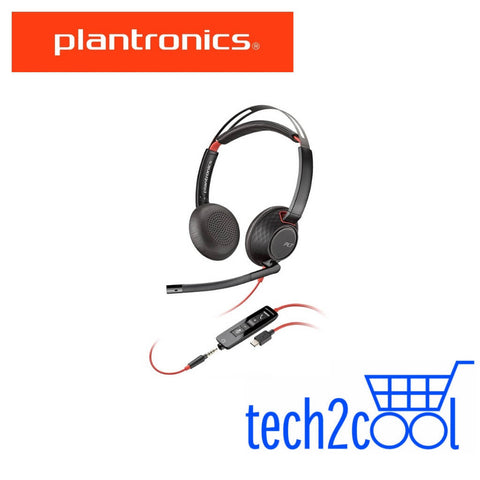 Plantronics Blackwire 5220 UC USB-C and 3.5 mm Stereo Wired Headset