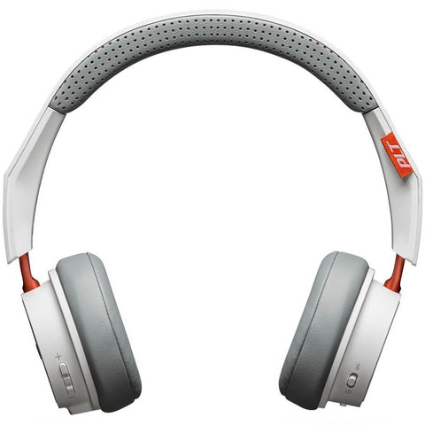 Plantronics Backbeat 505 White Orange Wireless On-Ear Headphone