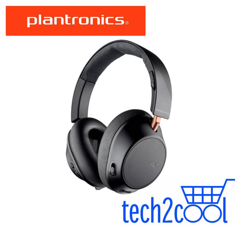 Plantronics Backbeat Go 810 Graphite Black Wireless Active Noise-Canceling Headphones