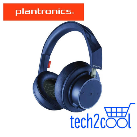 Plantronics Backbeat Go 605 Navy Wireless Bluetooth Over-The-Ear Headphones