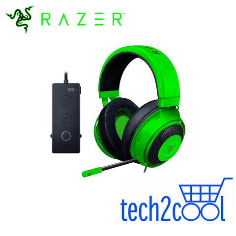 Razer Kraken Tournament Edition Green Surround Sound Wired Gaming Headset
